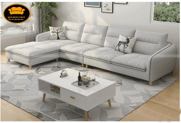 sofa phòng khách vải bố mịn