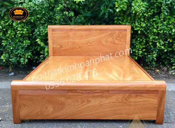 Giường ngủ gỗ gõ đỏ nguyên khối