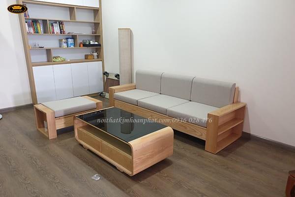 lưu ý khi bọc sofa gỗ