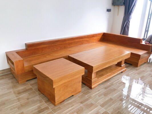 sofa gỗ tự nhiên nguyên khối
