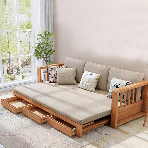 sofa giường gỗ giá rẻ