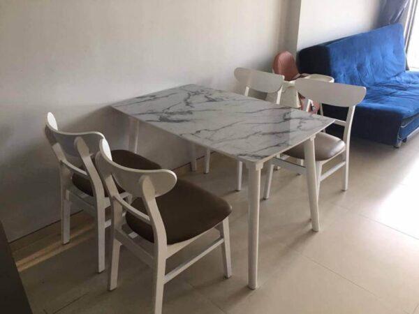 bộ bàn ăn 4 ghế mặt đá