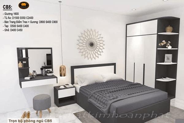 combo phòng ngủ gỗ công nghiệp giá rẻ