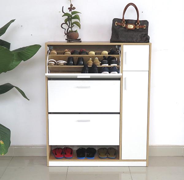 tủ gỗ đựng giày thông minh
