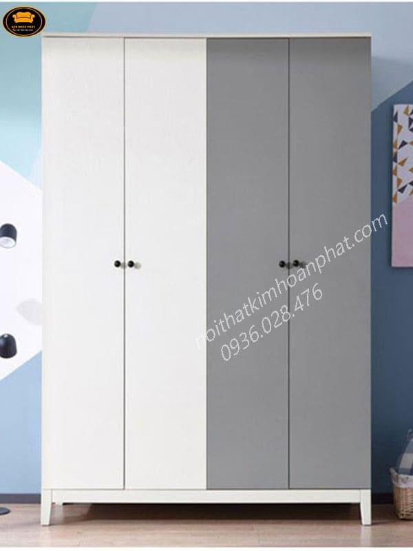 mẫu tủ quần áo gỗ công nghiệp giá rẻ