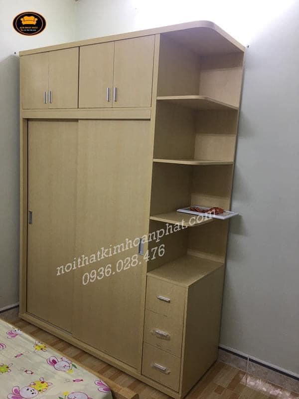 tủ gỗ mdf thiết kế sát trần