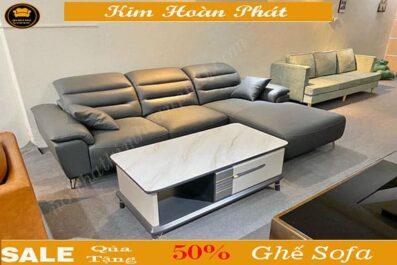 sofa da phòng khách đầu gục